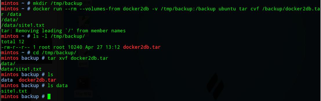Docker数据卷管理